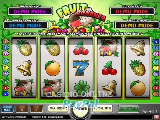 fruit bonanza spielen