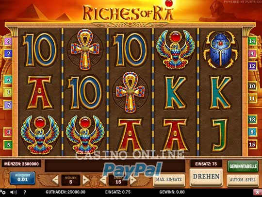 online casino paypal game of ra